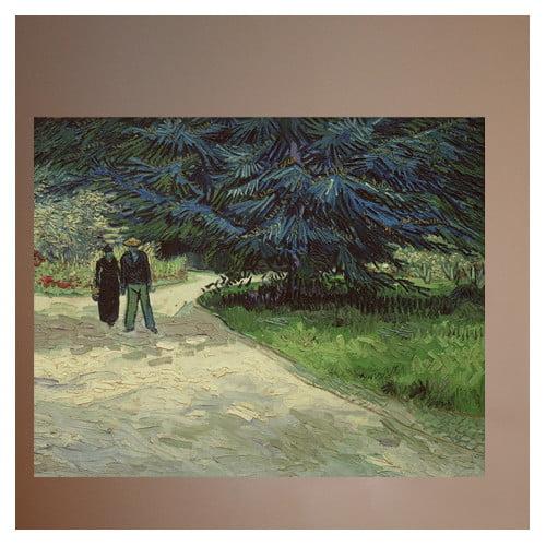 Wallhogs Van Gogh Couple in the Park (1888) Wall Mural