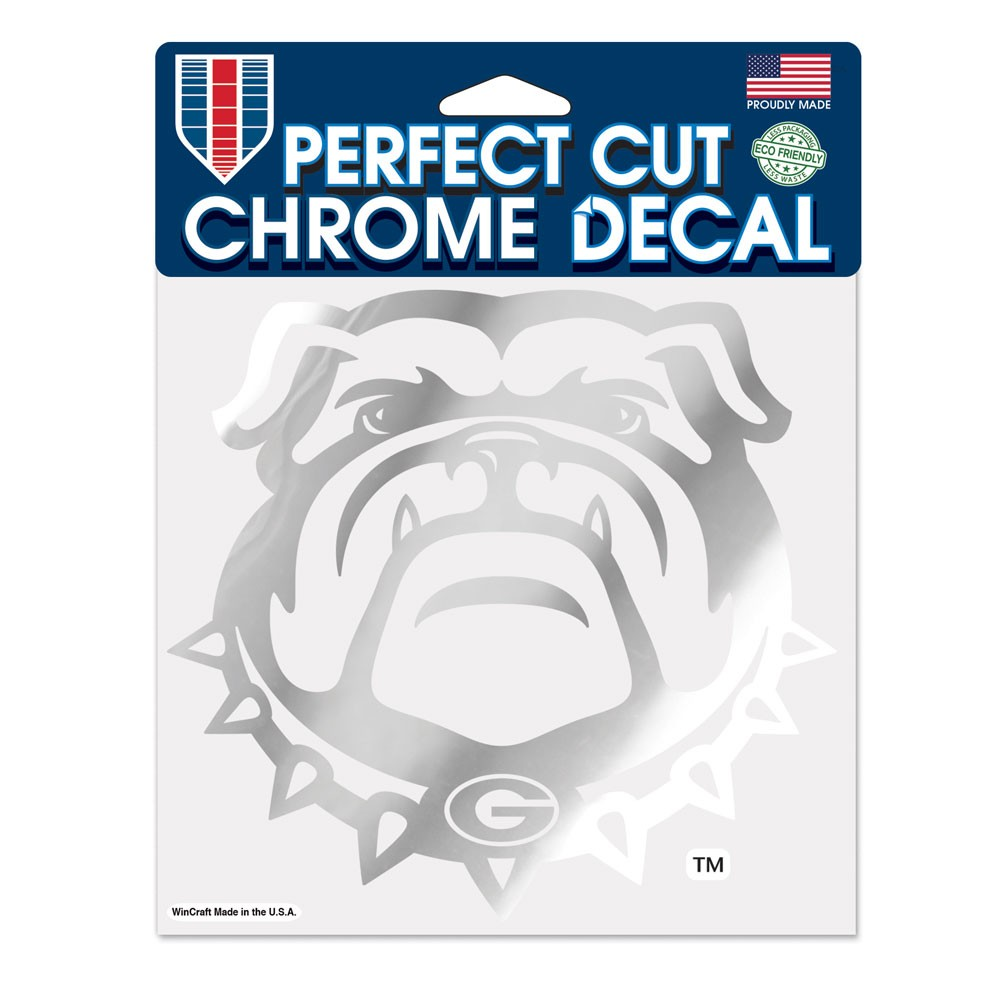 Georgia Bulldogs Official NCAA 6 inch  x 6 inch  Chrome Perfect Cut Decal by Wincraft