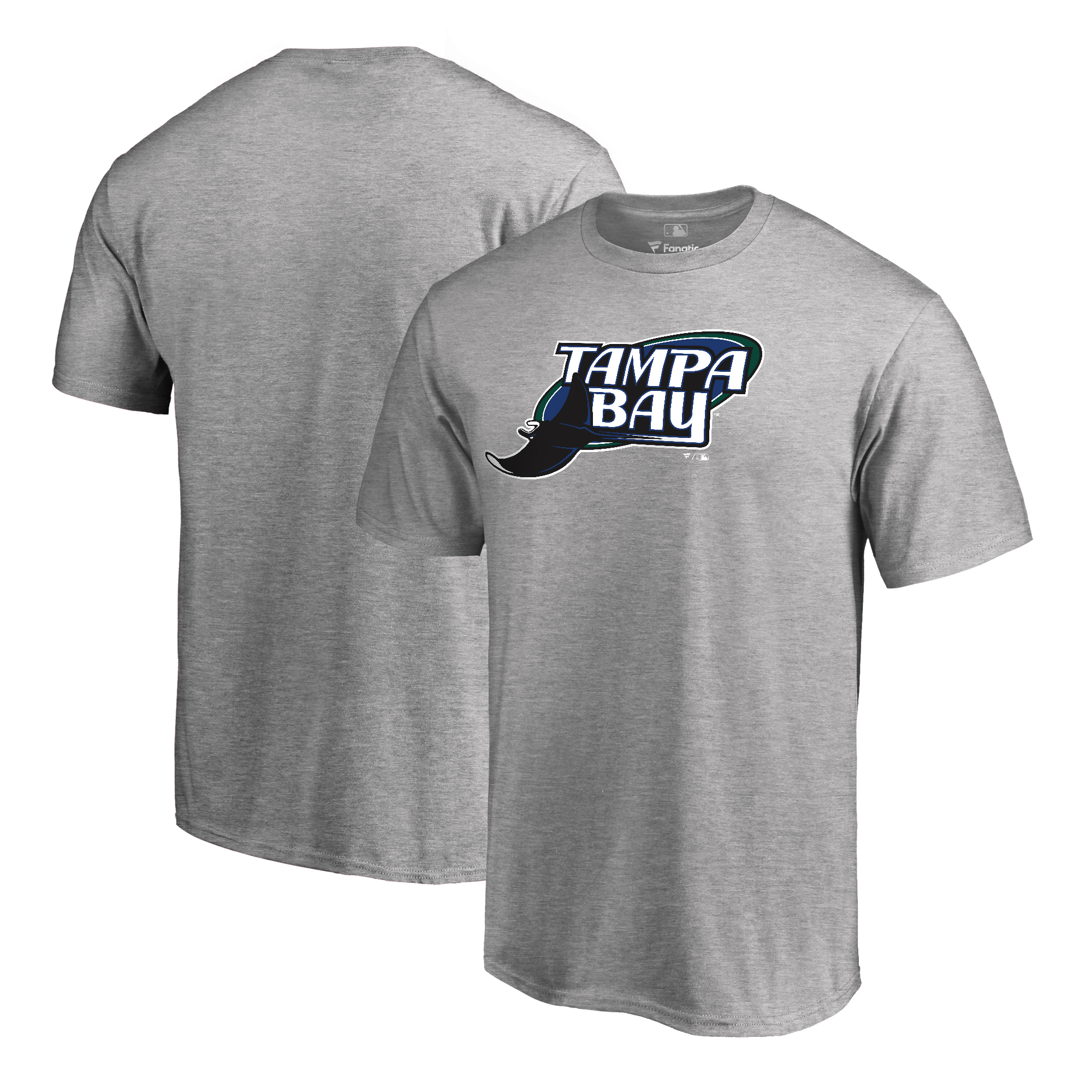 Tampa Bay Rays Fanatics Branded Big & Tall Cooperstown Collection Huntington T-Shirt - Ash
