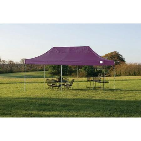 10' x 20' Pro Pop-up Canopy Straight Leg, Purple Cover