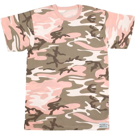 Subdued Pink Camouflage Short Sleeve T-Shirt with ARMY UNIVERSE Pin - Size  Small (33