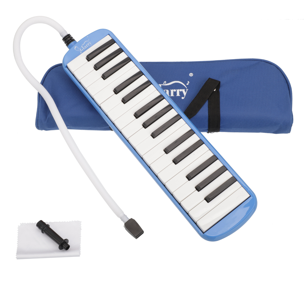 Zimtown Great 32 Piano Keys Melodica For Music Lovers + Oxford Cloth Bag + Cleaning Cloth + Soft Hose + Short Mouthpiece Blue