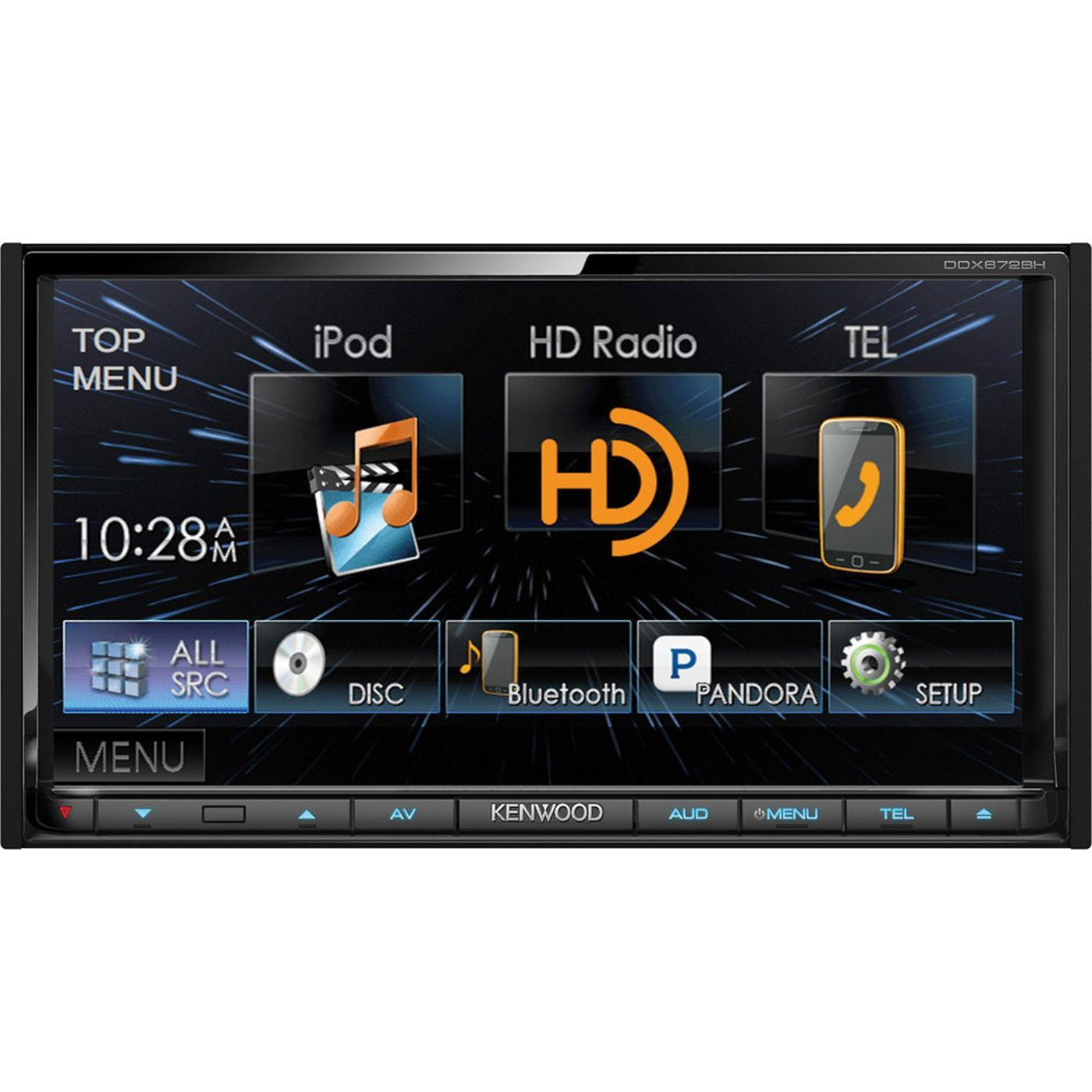 Kenwood DDX672BH In-dash CD DVD MP3 Receiver by Kenwood