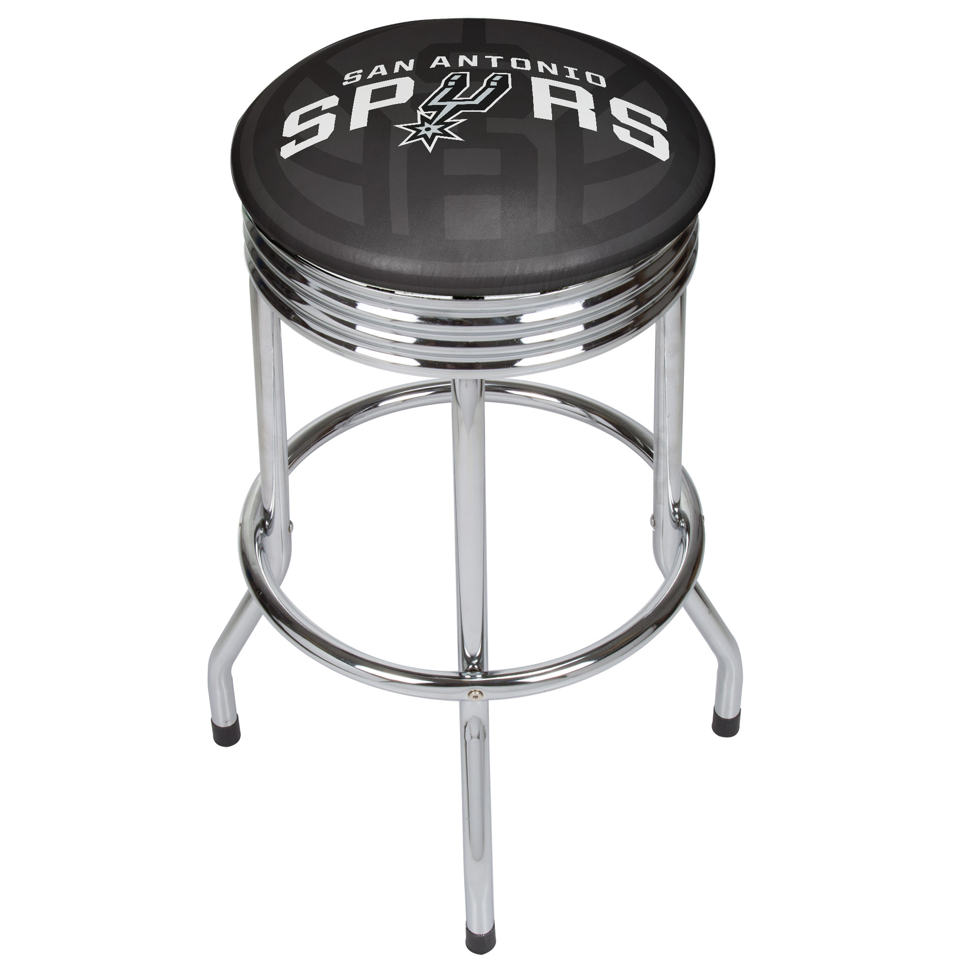 NBA Chrome Ribbed Bar Stool - Fade - San Antonio Spurs
