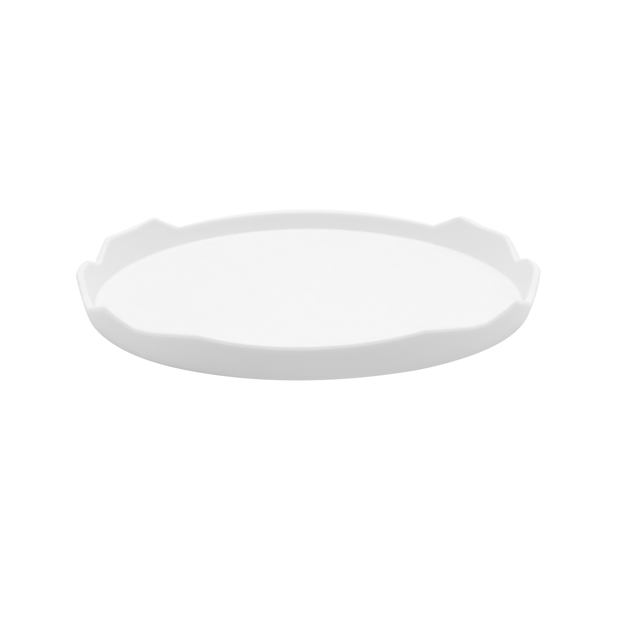 3.2 x 2.4 Inch White Plastic Water Food Plate for Terrarium Reptile Tanks by