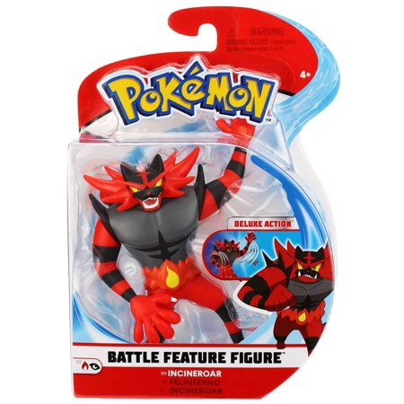 Pokemon Series 2 Battle Feature Figure Incineroar Figure (2 Figure Pokemon)