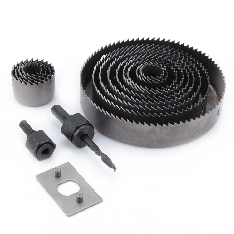 "HOLE SAW SET for Wood, 16 pc Hole Saw Kit- 3/4"" - 5"" inch, includes Case"