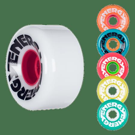 - Riedell Skates Radar Energy 62mm Outdoor Skate Wheels (Set of 4)