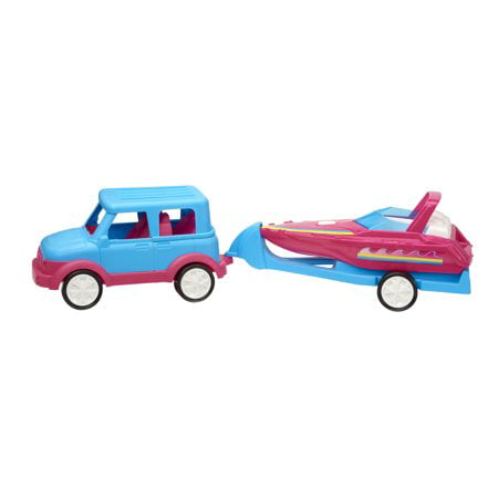 3-pc SUV & Boat Set