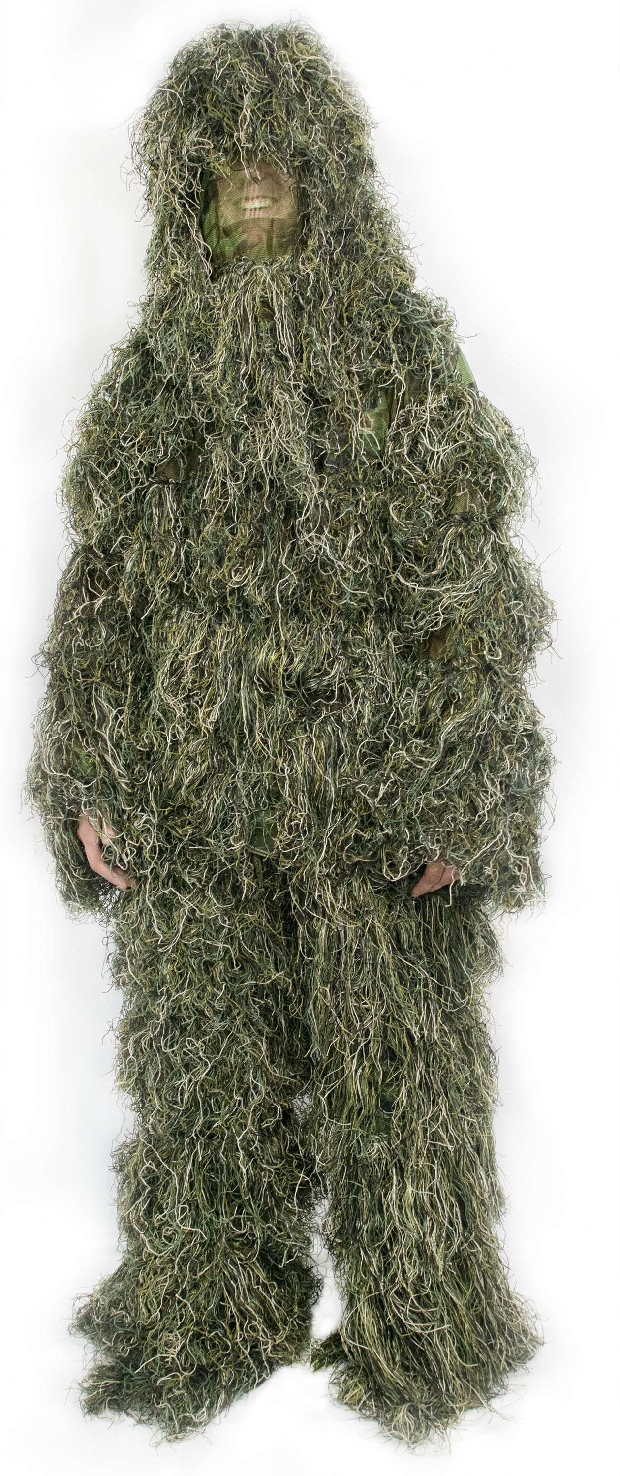 New Ghillie Suit M L Camo Woodland Camouflage Forest Hunting 3D 4-Piece + Bag by Vivo