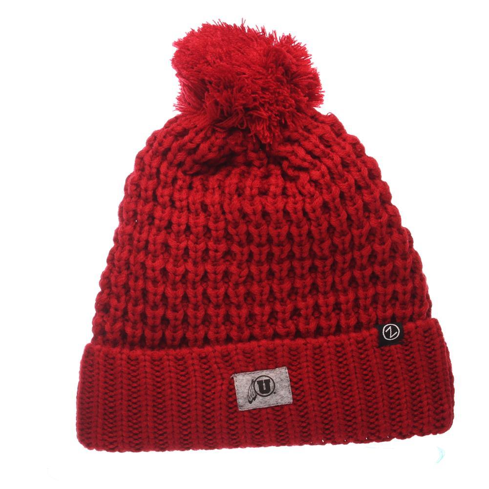 University of Utah Utes Beanie Hats for Women by Zephyr