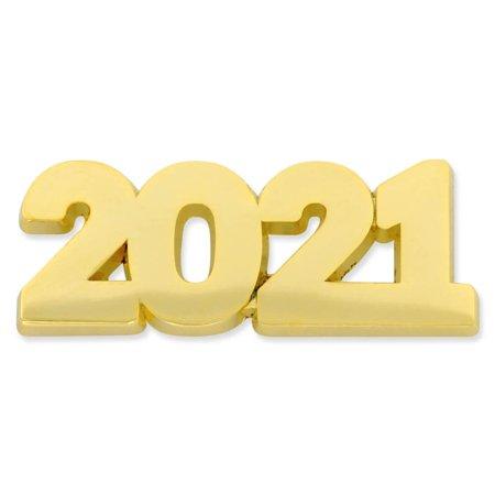 PinMart's Gold Year 2021 School, Graduation, New Years, Anniversary Lapel Pin 10 Year Anniversary Pin