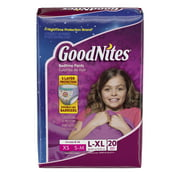 GoodNites Bedtime Bedwetting Underwear for Girls, Size L/XL, 20 Count