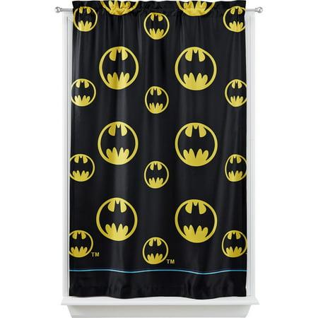Warner Bros Batman After Dark Room Darkening Boys Bedroom Curtain Panel