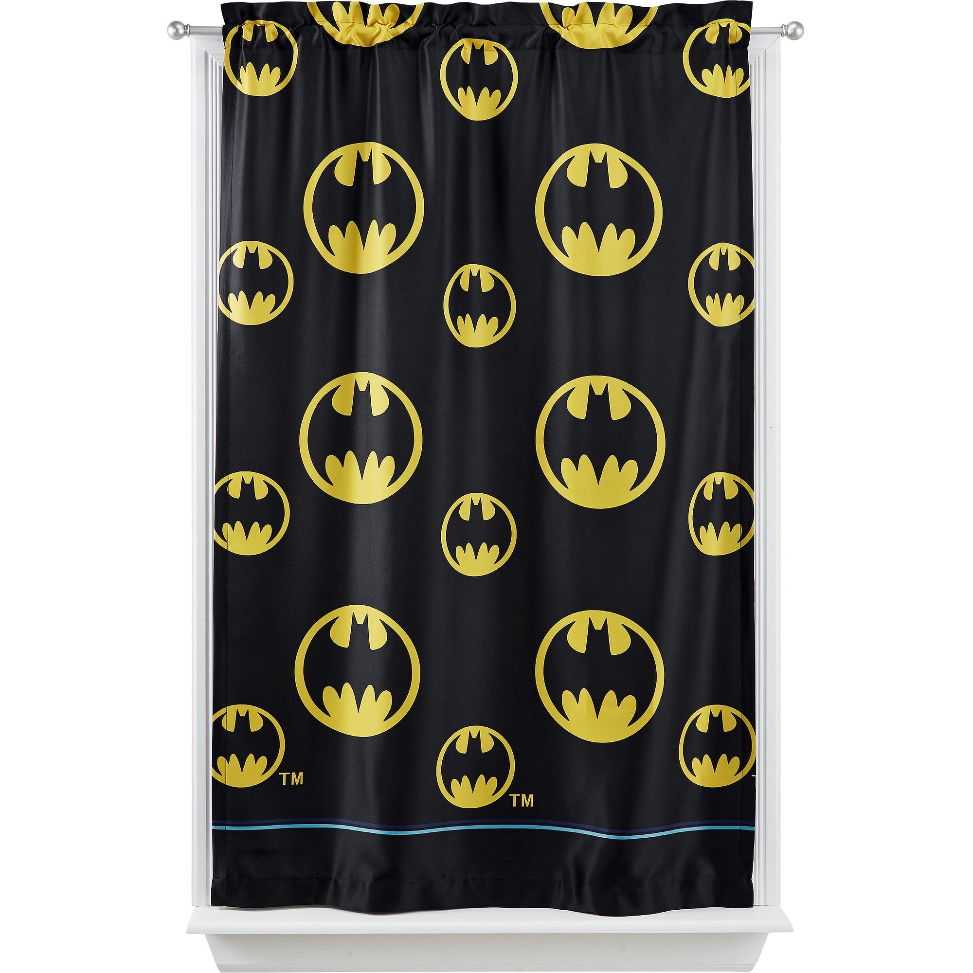"Warner Bros Batman ""After Dark"" Room Darkening Boys Bedroom Curtain Panel"