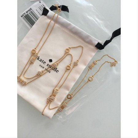Pave Spade (Kate Spade Gold O0ru1970 Bows & Pave Wrap Necklace )