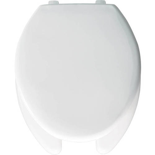 Church 390TL Commercial Plastic Elongated Toilet Seat, White
