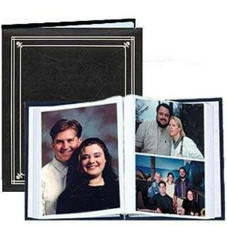 Post-Bound Black pocket album for 5x7 and 8x10 prints - 5x7 ()