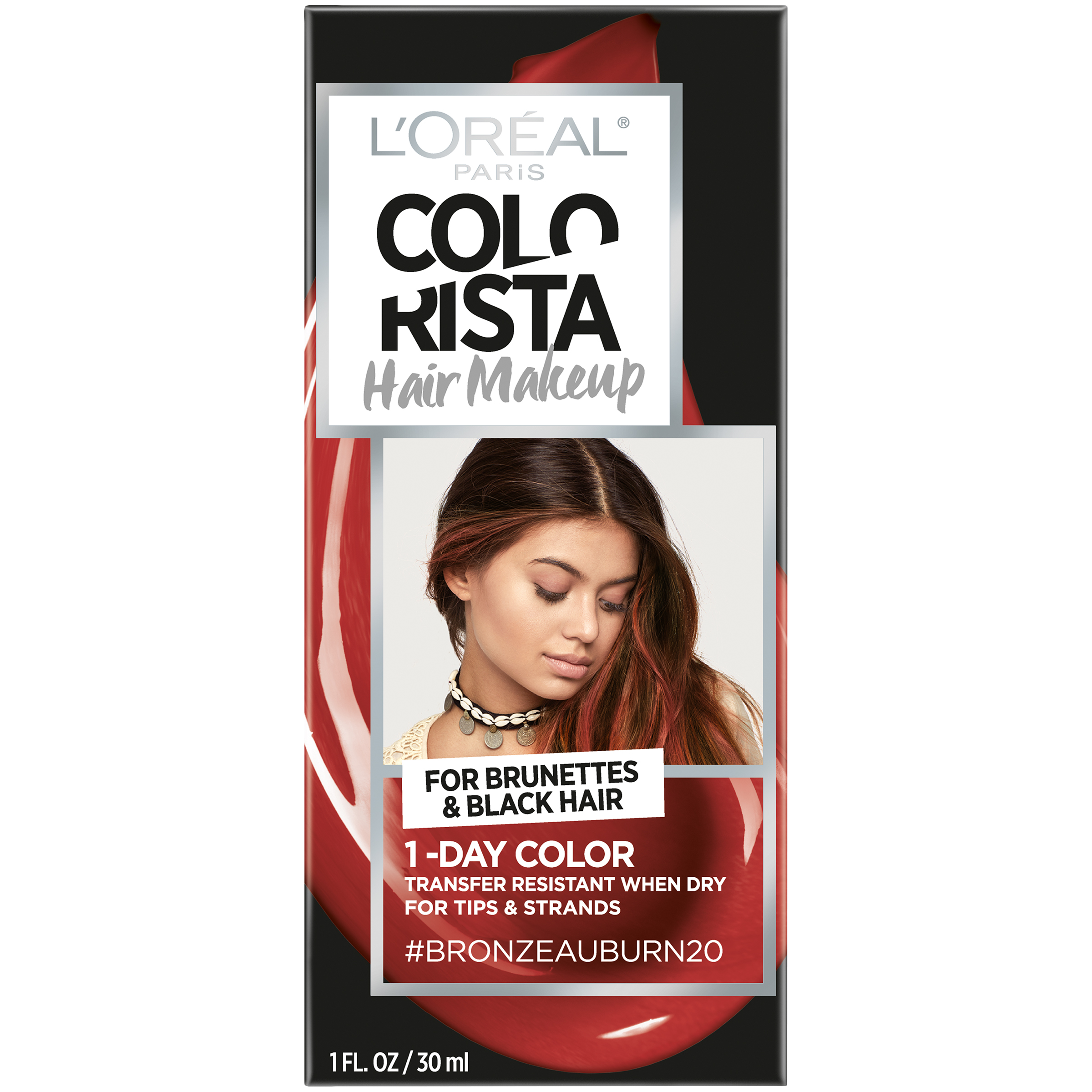 L'Oreal Paris Colorista Hair Makeup 1-Day Hair Color, Green70 (for brunettes), 1 fl. oz.