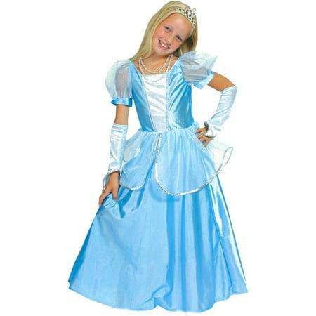 Child's Deluxe Cinderella Costume~Small 4-6 / Blue