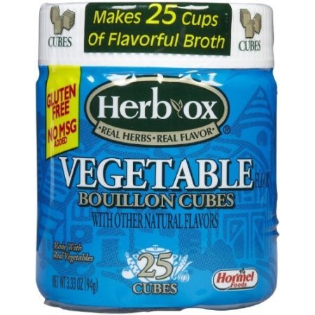 (4 Pack) Herb-Ox Vegetable Bouillon Cubes, 3.25 Ounce