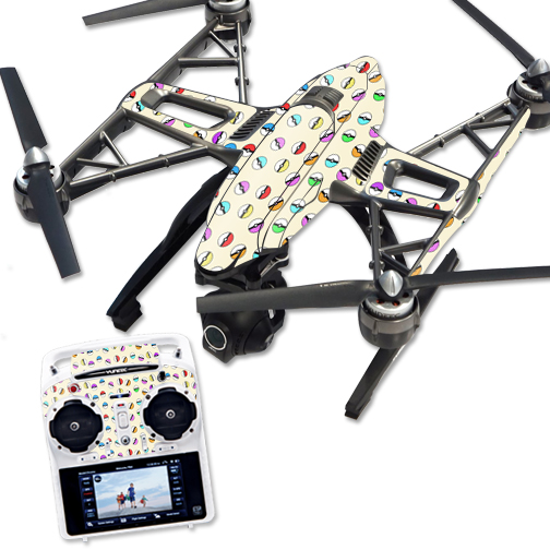 Skin Decal Wrap for Yuneec Q500 & Q500+ Drone Balling