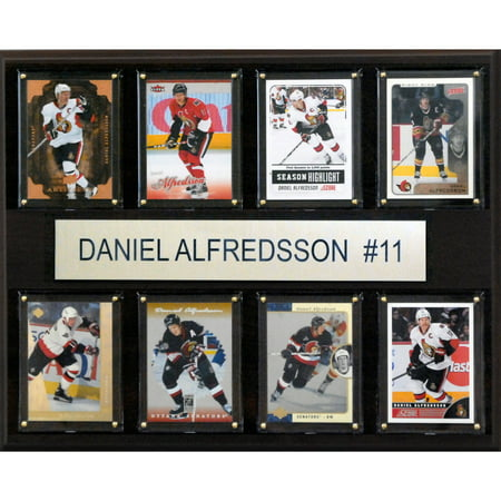 Ottawa Senators Daniel Alfredsson Photo - C&I Collectables NHL 12x15 Daniel Alfredsson Ottawa Senators 8-Card Plaque
