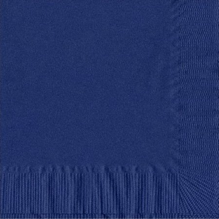 200 -  (4 Pks of 50) 2 Ply Plain Solid Colors Luncheon Dinner Napkins Paper - Navy Blue - Glow In The Dark Napkins