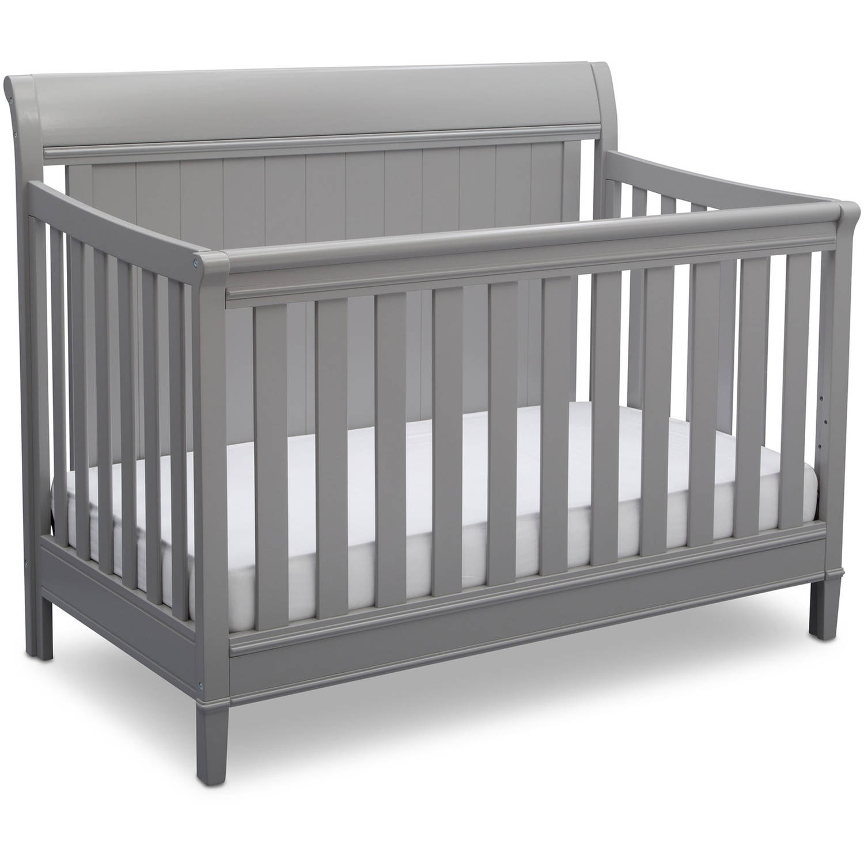 Delta Children New Haven 4-in-1 Convertible Crib, Gray