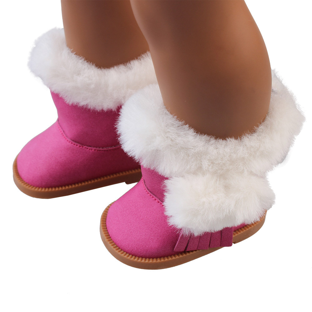 Mosunx Plush Winter Snow Boots For 18 Inch American Girl Dolls Mini Shoes