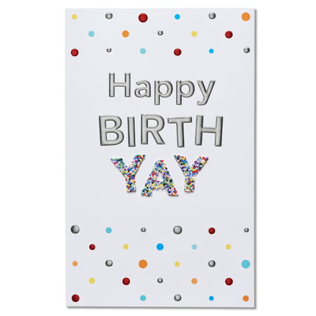 American Greetings Happy Birth-Yay Birthday Card with Foil](Happy Birth)