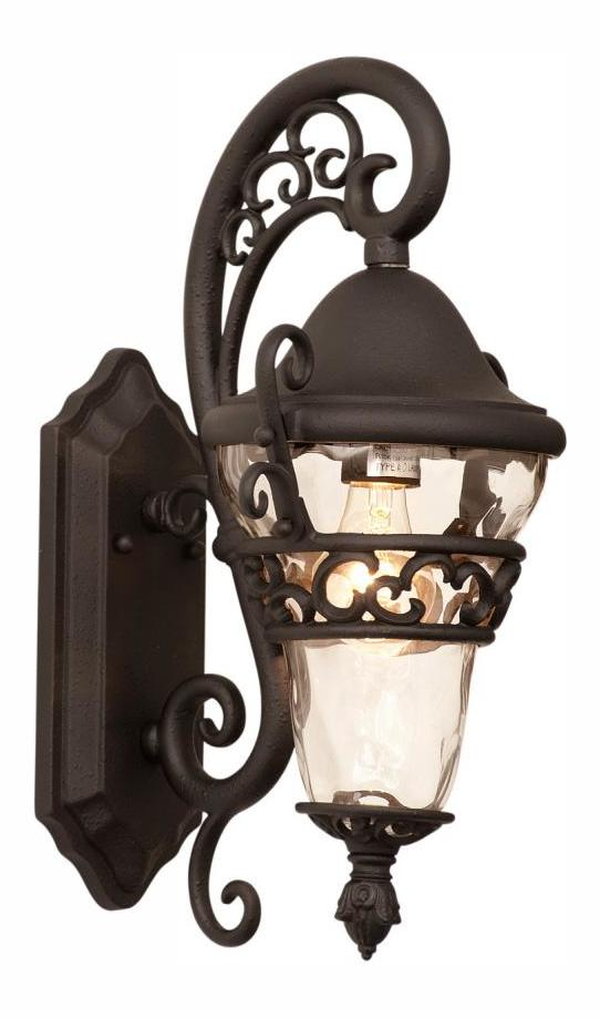 Textured Matte Black Anastasia Outdoor 1 Light Wall Sconce by Kalco