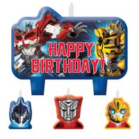 Transformers Candle Set (4 Pack) - Party Supplies