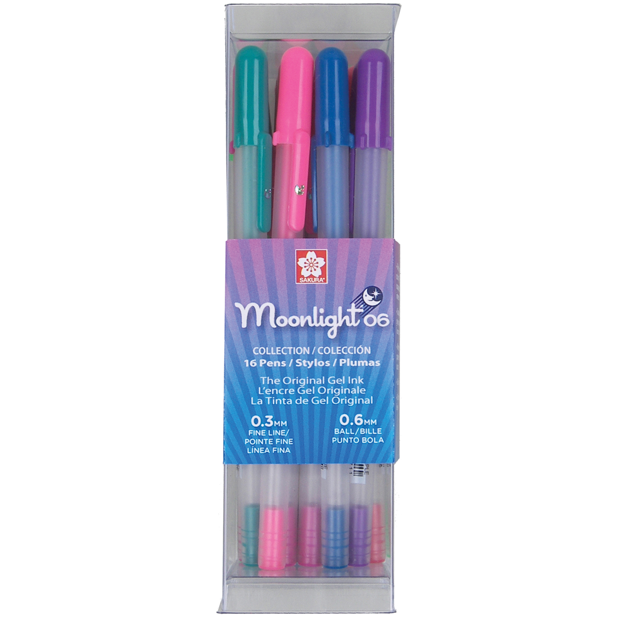 Gelly Roll Moonlight Fine Point Pens 16/Pkg-Assorted Colors