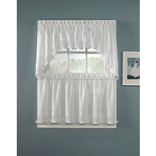 CHF & You Crochet  Kitchen Curtains, Set of 2