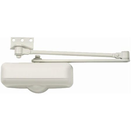 Tell Manufacturing DC100082 Residential Grade 3 Closer Ivory Home Door Closer With Hold-Open