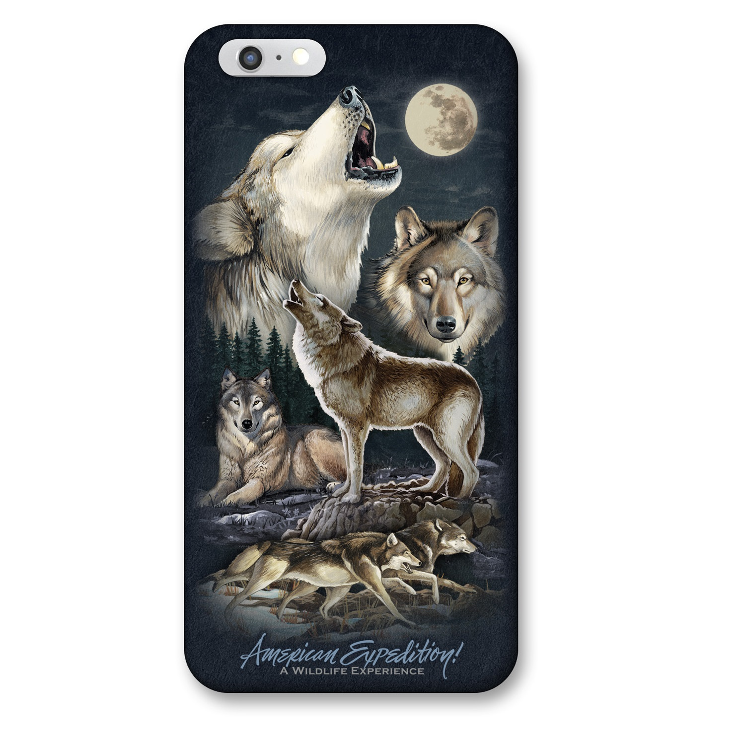 American Expedition iPhone 6 Cover - Gray Wolf Collage