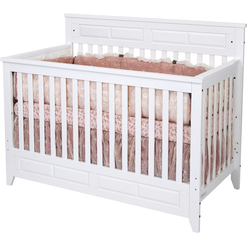 Child Craft Logan Lifetime 2-in-1 Convertible Fixed-Side Crib, Matte White