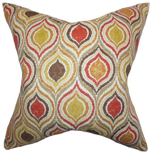 The Pillow Collection Xylon Geometric Cotton Throw Pillow