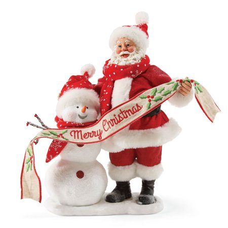 Traditions Snowman - Possible Dreams Christmas Traditions 4057125 In The Meadow Clothtique Santa and Snowman