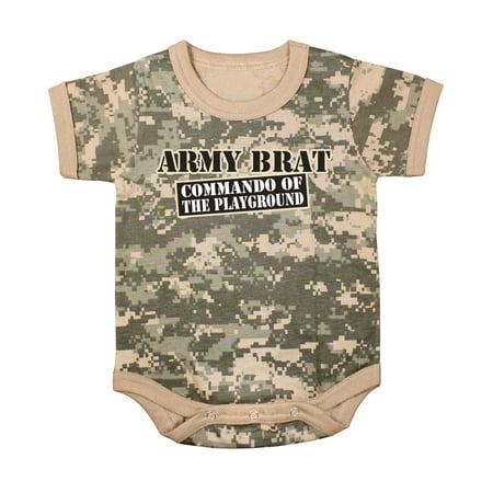 ACU Digital Camo Army Brat Baby One-piece Bodysuit, Snap-Tee Army Brat 3 Piece