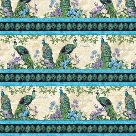 - Wilmington Prints Plumage Multi Repeating Stripe