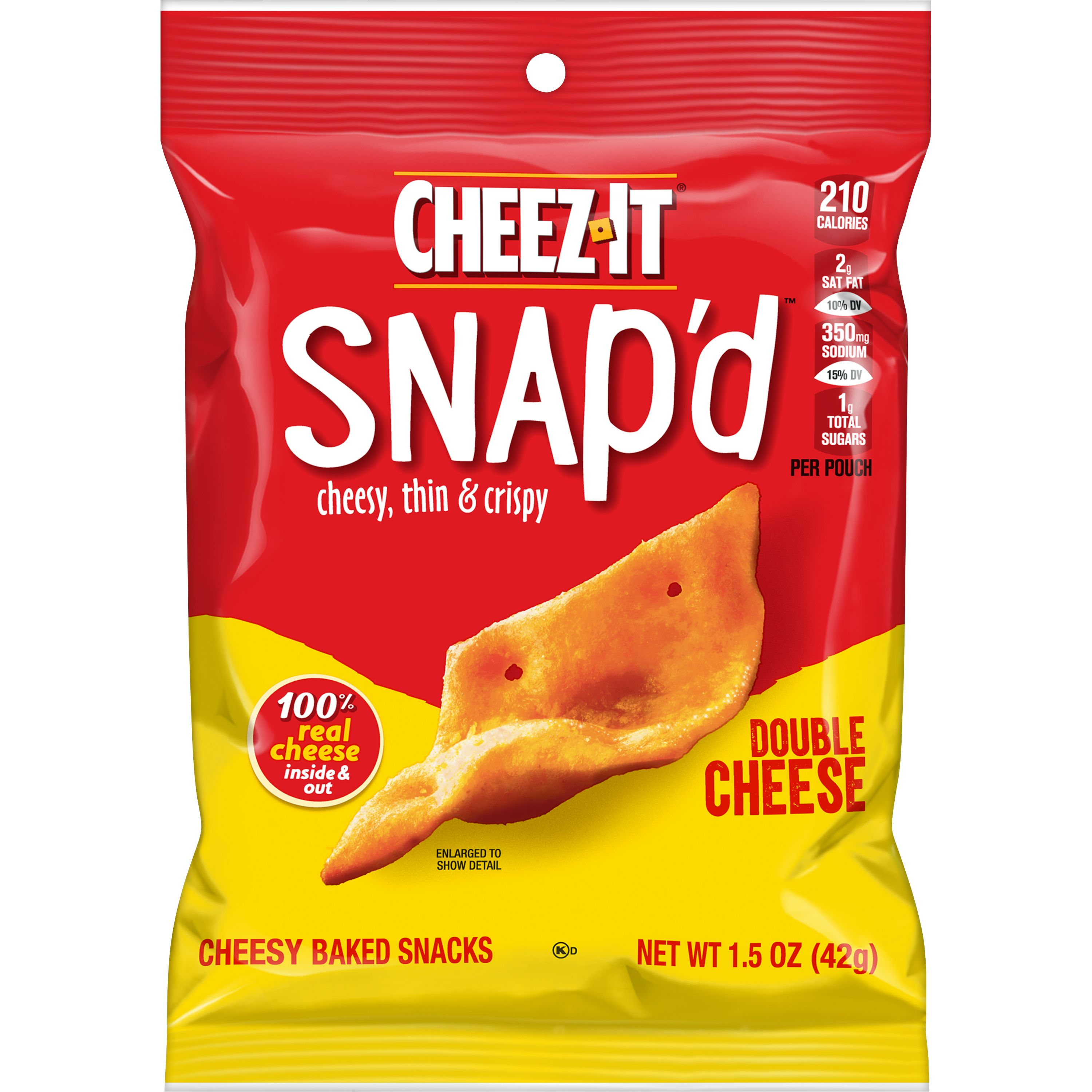 Cheez-It, Cheesy Baked Snacks, Double Cheese, 1.5 Oz