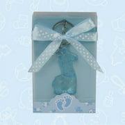 De Yi Enterprise Inc.  27007-BL Cute Blue Giraffe Acrylic Keychain