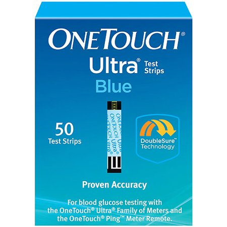 Onetouch Ultra Blue Blood Glucose Test Strips  50 Ct