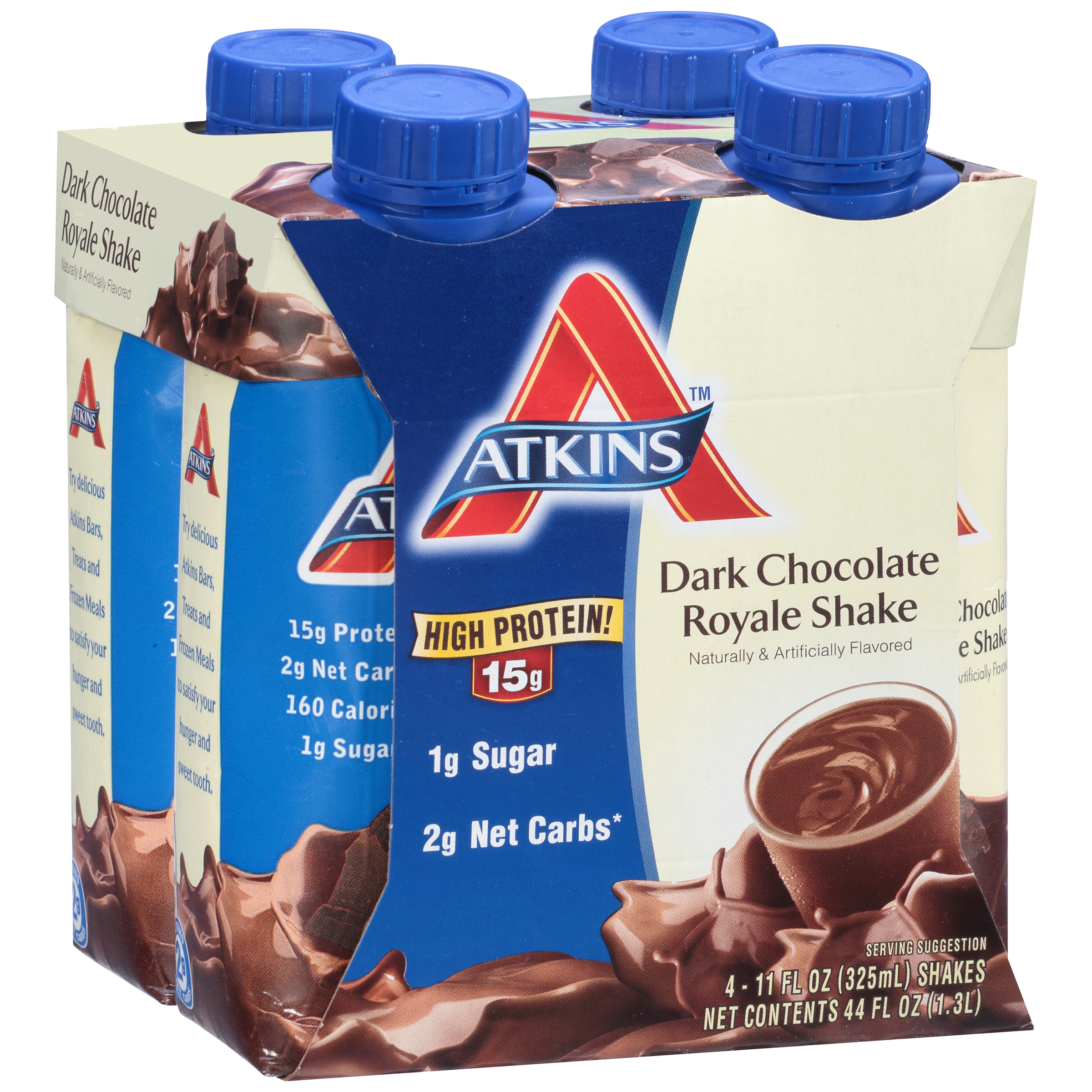 Atkins Ready To Drink Shakes Dark Chocolate Royale 4-pack