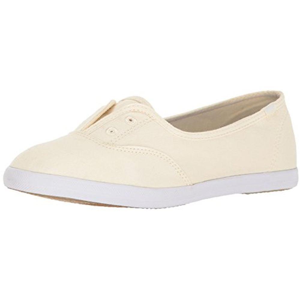 Keds WF56522 Women's Chillax Mini Seasonal Solid Fashion Sneaker, Cream, 10 M US by Keds