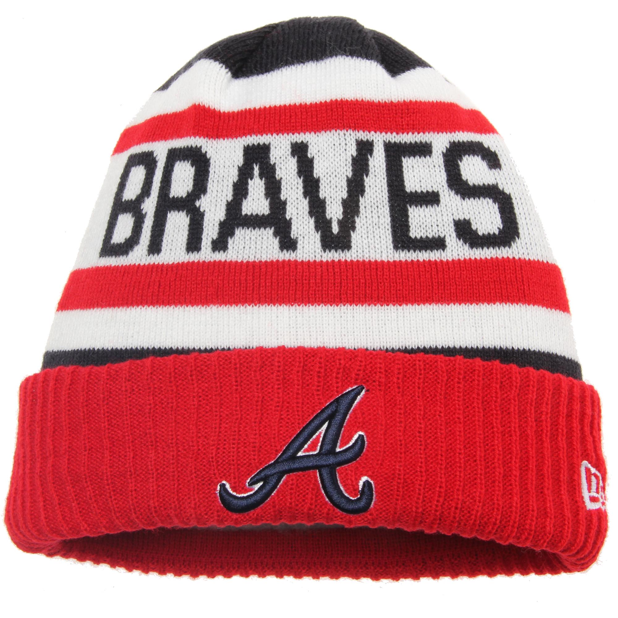 New Atlanta Braves Era Youth Biggest Fan 2.0 Cuffed Knit Hat - White/Orange - OSFA