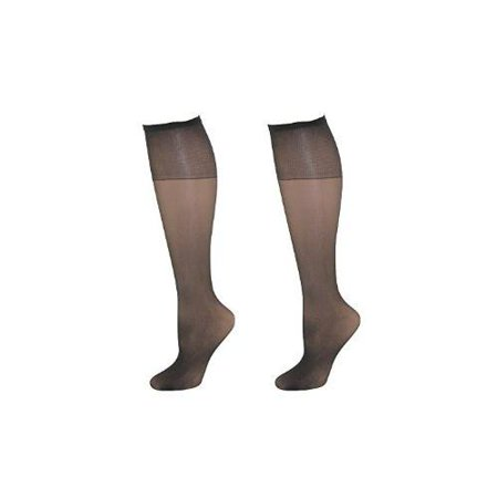 57e14872b0f96 L'eggs - Leggs Womens Plus Size Nylon Knee Highs (Pack of 2) - Walmart.com
