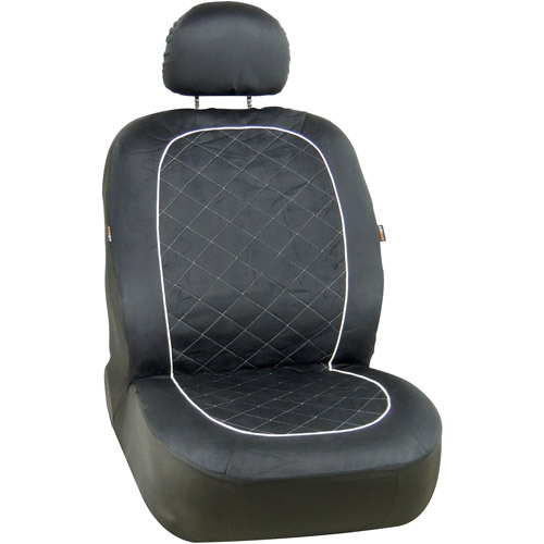Bell Foose Quilted Suede Seat Cover, Black